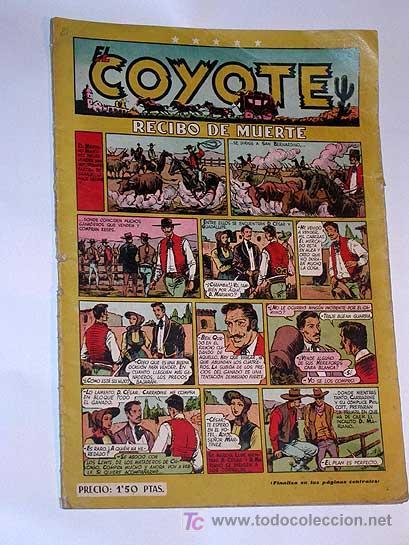 EL COYOTE Nº 21. RECIBO DE MUERTE. CLIPER. ENCAPUCHADO, FLORITA, MR. RADAR. FIGUERAS, ROSO, DARNIS. (Tebeos y Comics - Cliper - El Coyote)