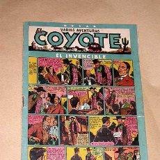 Tebeos: EL COYOTE Nº 19. EL INVENCIBLE. CLIPER. ENCAPUCHADO, FLORITA, MR. RADAR. ROSO, DARNIS, FIGUERAS ++++. Lote 27305825