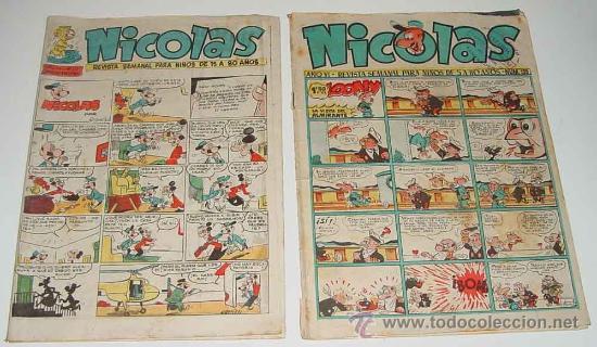 REVISTA SEMANAL NICOLAS - NUM. 135, 217 - ED. GUADA. (Tebeos y Comics - Cliper - Nicolas)