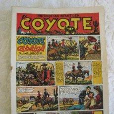Tebeos: EL COYOTE - LOTE DE 49 NUMEROS ORIGINALES. (INCLUYE PRIMEROS NUMEROS) EDITORIAL CLIPER 1947. Lote 27121042