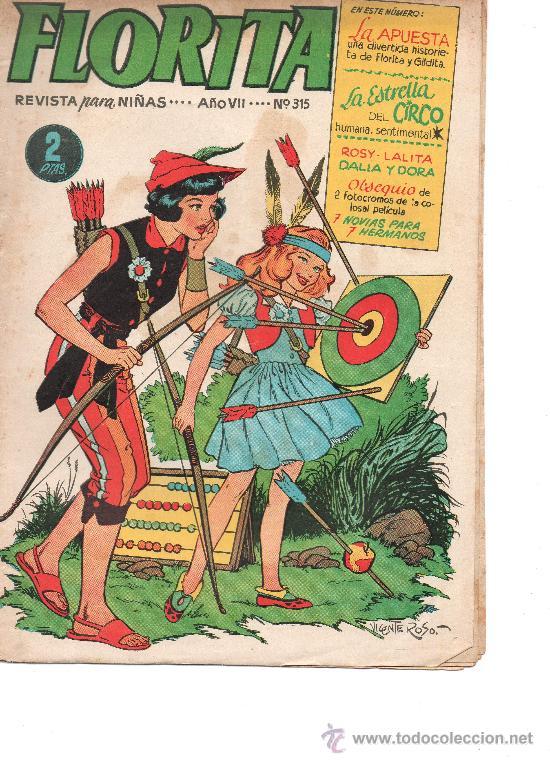 FLORITA Nº 315 DE CLIPER (Tebeos y Comics - Cliper - Florita)
