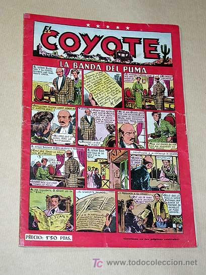 EL COYOTE Nº 22. LA BANDA DEL PUMA. BATET, BLASCO, ENCAPUCHADO. DARNÍS, ROSO, ALFEREZ. CLIPER 1948.+ (Tebeos y Comics - Cliper - El Coyote)
