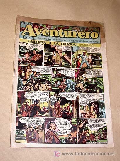 AVENTURERO Nº 2. EDICIONES FUTURO 1953. MISTERIX, CAPITÁN RIDO, RIBERA, FIGUERAS, MATHELOT, TEY.++++ (Tebeos y Comics - Cliper - Aventurero)