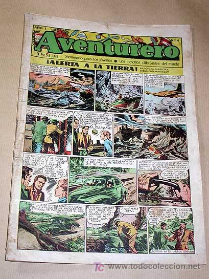 AVENTURERO Nº 4. EDICIONES FUTURO 1953. MISTERIX, CAPITÁN RIDO, RIBERA, FIGUERAS, MATHELOT, TEY.++++ (Tebeos y Comics - Cliper - Aventurero)