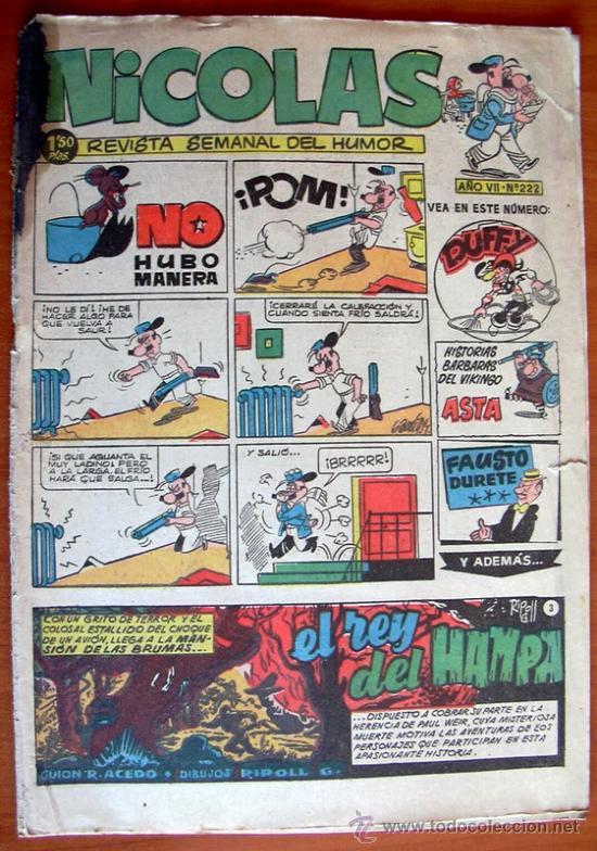 NICOLAS Nº 222 - EDITORIAL CLIPER 1948 (Tebeos y Comics - Cliper - Nicolas)