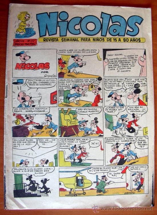 NICOLAS Nº 217 - EDITORIAL CLIPER 1948 (Tebeos y Comics - Cliper - Nicolas)