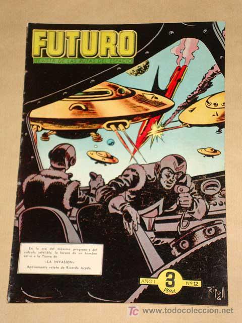 FUTURO Nº 12. EDICIONES CLIPER 1957. TUNET VILA. PÉREZ FAJARDO. RAFAEL CORTIELLA. RIPOLL G. +++ (Tebeos y Comics - Cliper - Otros)