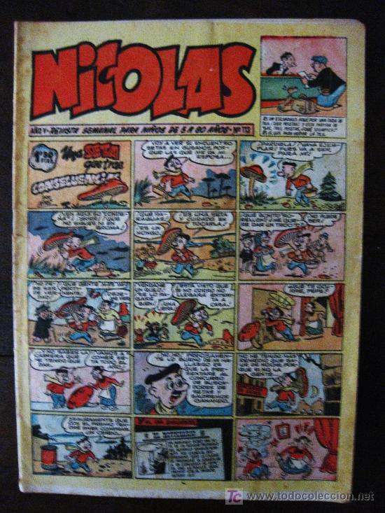 NICOLAS. AÑO V .REVISTA SEMANAL PARA NIÑOS DE 5 A 50 AÑOS - Nº 113. EDICIONES CLIPER. (Tebeos y Comics - Cliper - Nicolas)
