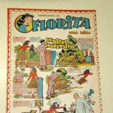 Tebeos: FLORITA Nº 18. VICENTE ROSO, SABATÉS, DARNÍS, RIPOLL G., PILI BLASCO, MACIÁN, GARCÍA. CLIPER 1950+. Lote 25702197