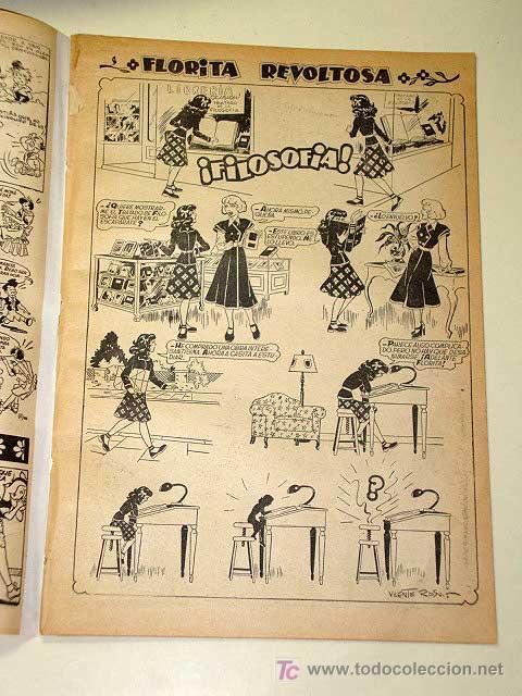 Tebeos: FLORITA Nº 18. Vicente Roso, Sabatés, Darnís, Ripoll G., Pili Blasco, Macián, García. CLIPER 1950+ - Foto 2 - 25702197