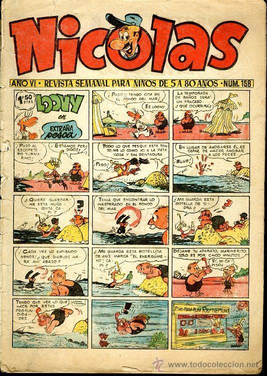 NICOLAS - Nº 173 - EDICIONES CLIPER - ORIGINAL (Tebeos y Comics - Cliper - Nicolas)