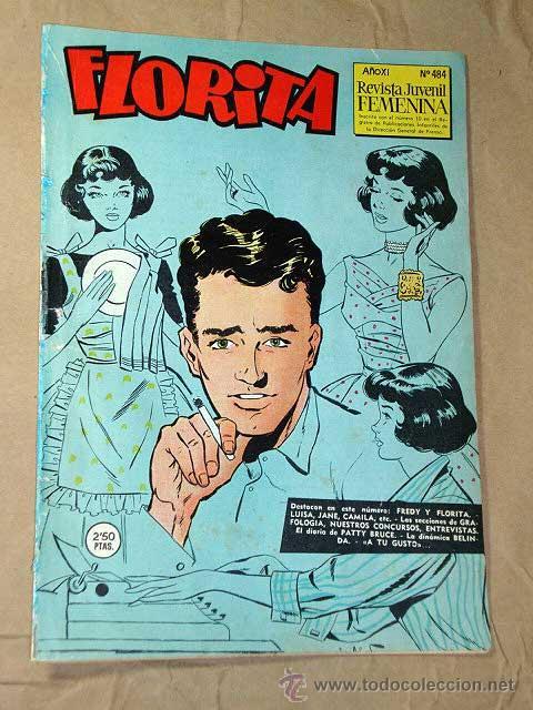 FLORITA Nº 484. JOSEFINA GÜELL. PÉREZ FAJARDO, DICK BROOKS, TUNET VILA, BARBARÁ, GRANÉS. ++ (Tebeos y Comics - Cliper - Florita)