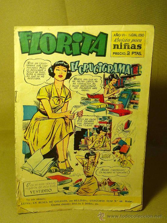 REVISTA PARA NIÑAS, COMIC, FLORITA, Nº 230, EDICIONES CLIPER (Tebeos y Comics - Cliper - Florita)