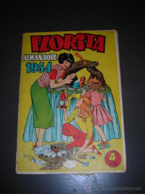 (M-1) FLORITA ALMANAQUE 1954, EDT CLIPER - SEÑALES DE USO, PEQUEÑAS ROTURAS EN EL LOMO (Tebeos y Comics - Cliper - Florita)