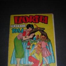 Tebeos: (M-1) FLORITA ALMANAQUE 1954, EDT CLIPER - SEÑALES DE USO, PEQUEÑAS ROTURAS EN EL LOMO. Lote 26320776