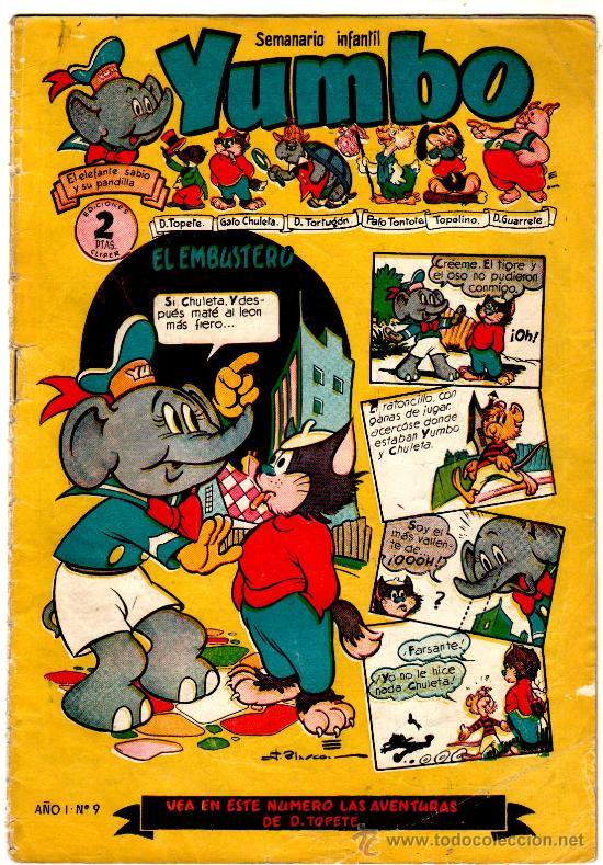 YUMBO Nº 9, EDI. CLIPER 1953, 20 PGS. POR J.BLASCO, FRANCIS KIRN, AYNÉ ETC. (Tebeos y Comics - Cliper - Yumbo)
