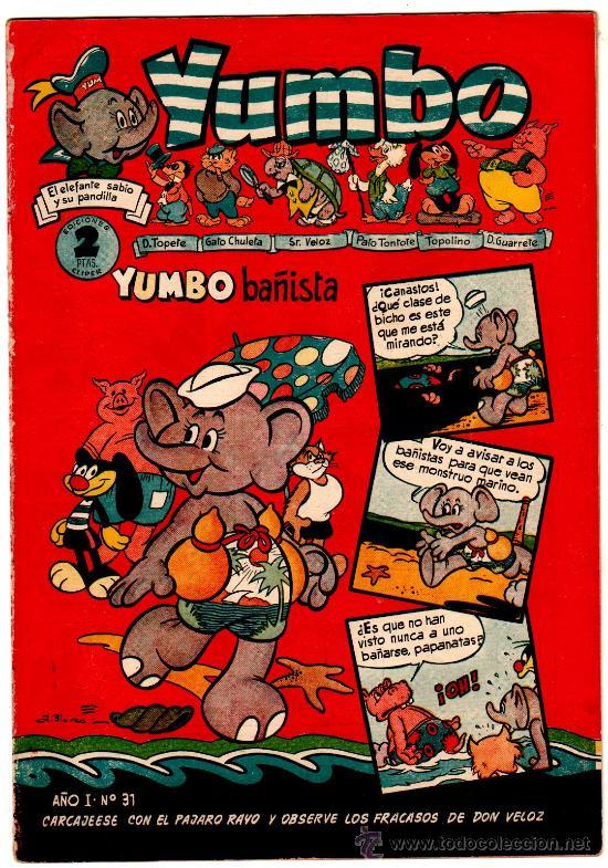 YUMBO Nº 31, EDI. CLIPER 1953, 20 PGS. POR J.BLASCO, FRANCIS KIRN, AYNÉ ETC. (Tebeos y Comics - Cliper - Yumbo)