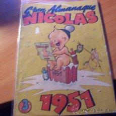 Tebeos: NICOLAS GRAN ALMANAQUE 1951 ( ORIGINAL ED. CLIPER ) (COIM17). Lote 26294203
