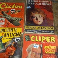 Tebeos: LOTE VARIADO 4 CLIPER AÑOS 40. PORTES GRATIS.. Lote 25214655