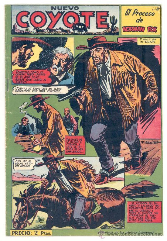 EL COYOTE Nº. 126, ORIGINAL (Tebeos y Comics - Cliper - El Coyote)