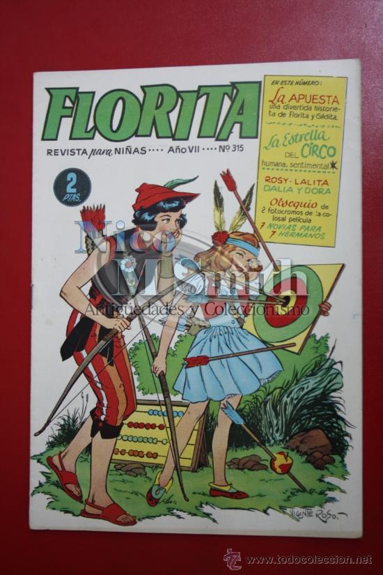 FLORITA: AÑO VII Nº 315 - EDICIONES CLIPER, DISTRIBUIDORES GERPLA (Tebeos y Comics - Cliper - Florita)