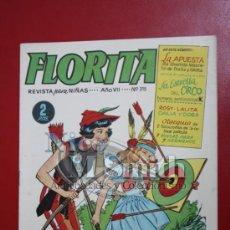 Tebeos: FLORITA: AÑO VII Nº 315 - EDICIONES CLIPER, DISTRIBUIDORES GERPLA. Lote 27375857