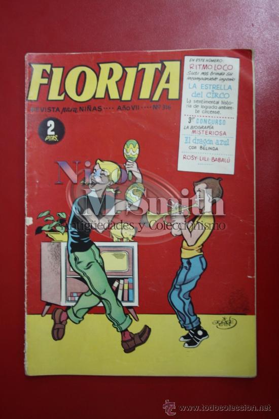 FLORITA: AÑO VII Nº 316 - EDICIONES CLIPER, DISTRIBUIDORES GERPLA (Tebeos y Comics - Cliper - Florita)