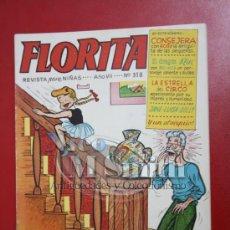 Tebeos: FLORITA: AÑO VII Nº 318 - EDICIONES CLIPER, DISTRIBUIDORES GERPLA . Lote 27375909
