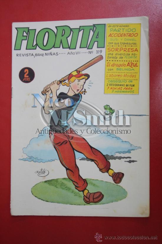 FLORITA: AÑO VII Nº 319 - EDICIONES CLIPER, DISTRIBUIDORES GERPLA (Tebeos y Comics - Cliper - Florita)