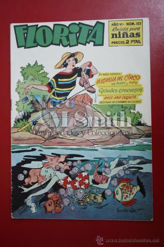 FLORITA: AÑO VI Nº 323 - EDICIONES CLIPER, DISTRIBUIDORES GERPLA (Tebeos y Comics - Cliper - Florita)