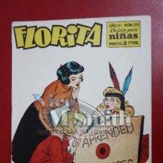 Tebeos: FLORITA: AÑO VI Nº 329 - EDICIONES CLIPER, DISTRIBUIDORES GERPLA. Lote 27376102