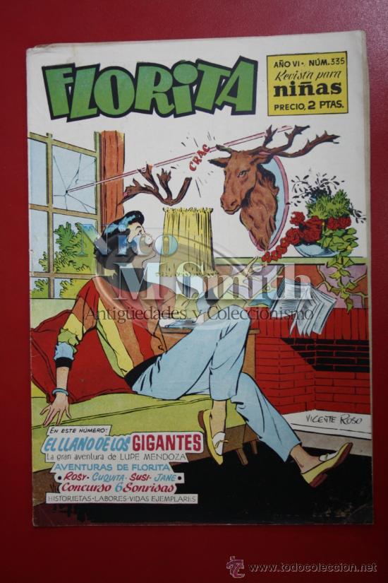 FLORITA: AÑO VI, Nº 335 - EDICIONES CLIPER, DISTRIBUIDORES GERPLA (Tebeos y Comics - Cliper - Florita)
