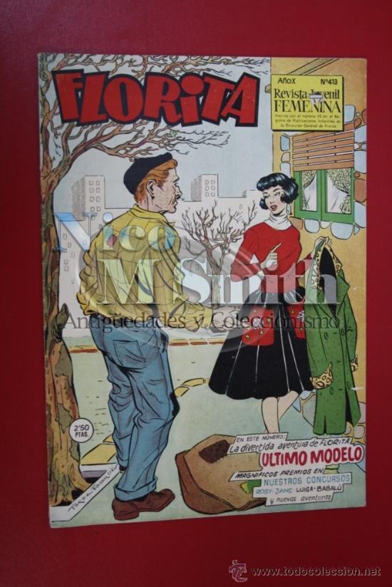 FLORITA: AÑO X, Nº 413 - EDICIONES CLIPER, DISTRIBUIDORES GERPLA (Tebeos y Comics - Cliper - Florita)