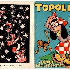 Tebeos: TOPOLINO Nº 8 GERPLA-CLIPER AÑO 1950, 20 PGS. - 18 X 13 CMS.. Lote 27481044