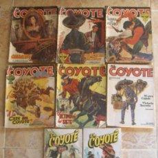 Tebeos: EL COYOTE (1947-49) SUPER LOTE DE 8 NOVELAS. OFERTON!!!!. Lote 30388729