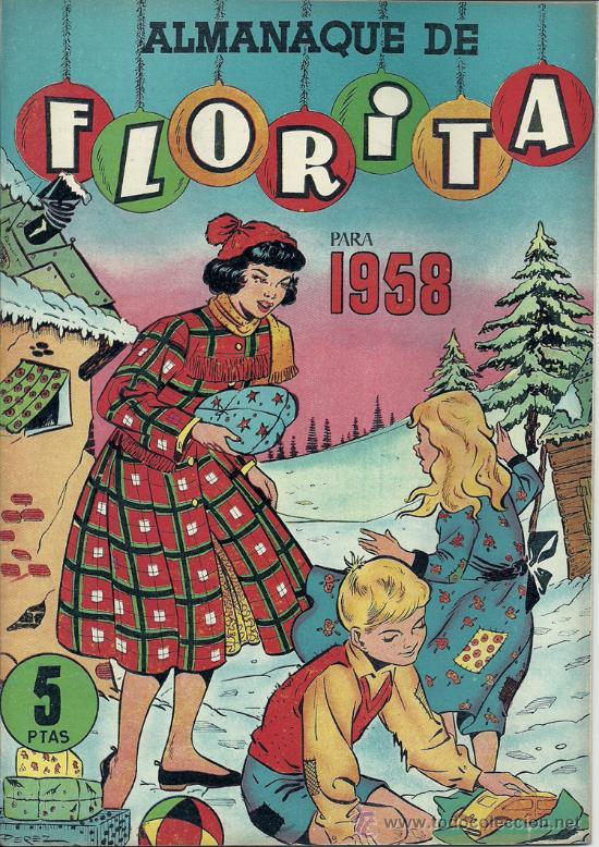 FLORITA ALMANAQUE 1958 (Tebeos y Comics - Cliper - Florita)
