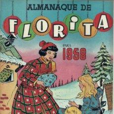Tebeos: FLORITA ALMANAQUE 1958. Lote 30821333
