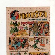 Tebeos: (M-ALB2) FLORITA - CARTELITO ANUNCIADOR DE LA SALIDA DE LA REVISTA, 13 X 9 CM, . Lote 31783290