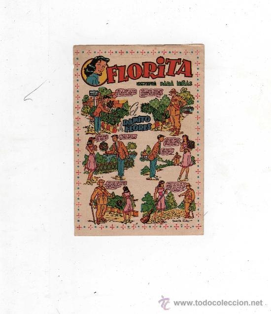(M-ALB2) FLORITA - CARTELITO ANUNCIADOR DE LA SALIDA DE LA REVISTA, 13 X 9 CM, (Tebeos y Comics - Cliper - Florita)
