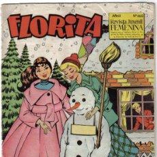 Livros de Banda Desenhada: FLORITA - REVISTA JUVENIL FEMENINA - NUMERO 465 - BARCELONA 1958. Lote 32076043