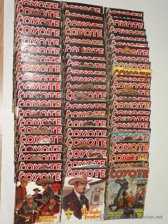 LOTE EL COYOTE, 61 NÚMEROS MÁS 7 EXTRAORDINARIOS Y EXTRA ESPECIAL - EDICIONES CLIPER. AÑOS 40 (Tebeos y Comics - Cliper - El Coyote)