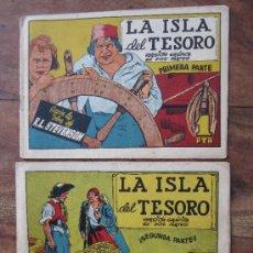Tebeos: LA ISLA DEL TESORO - PRIMERA Y SEGUNDA PARTE - OBRA COMPLETA , R.L. STEVENSON , EDICIONES CISNE,. Lote 32842181