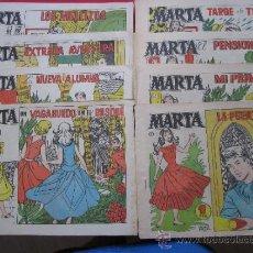 Tebeos: COLECION COMPLETA - 8 NUMEROS - MARTA - POR CARMEN BARBARA' - EDITORIAL CLIPER - 1958. Lote 33681139
