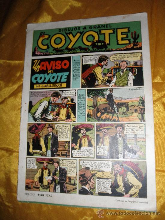 EL COYOTE. UN AVISO DEL COYOTE. J. MALLORQUÍ. EDICIONES CLIPER * (Tebeos y Comics - Cliper - El Coyote)