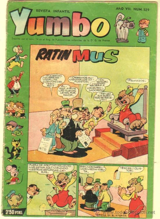 YUMBO Nº 329 EDI. CLIPER 1958, BILLY Y BUMBLE, CONEJITO ATÓMICO, NIC0TIN, CONCHITO BARBAFOJA ETC (Tebeos y Comics - Cliper - Yumbo)