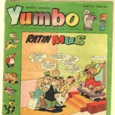 Tebeos: YUMBO Nº 329 EDI. CLIPER 1958, BILLY Y BUMBLE, CONEJITO ATÓMICO, NIC0TIN, CONCHITO BARBAFOJA ETC. Lote 35016956