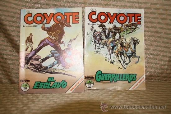 2328- EL COYOTE. J. MALLORQUI. EDIT. FORUM. 1983. LOTE DE 23 NUMEROS. (Tebeos y Comics - Cliper - El Coyote)