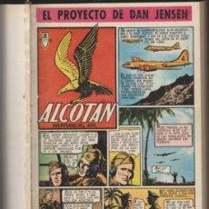Tebeos: ALCOTÁN. CLIPER 1952. COMPLETA 12 EJEMPLARES ENCUADERNADOS EN UN TOMO DE LUJO.. Lote 35472640