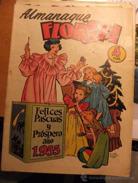 FLORITA ALMANAQUE 1955 (Tebeos y Comics - Cliper - Florita)