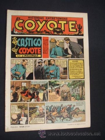 EL COYOTE - UN CASTIGO DEL COYOTE - Nº 10 - EDIC. CLIPER - ORIGINAL - (Tebeos y Comics - Cliper - El Coyote)